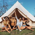 Girls just wanna have fun in our tents ...one or two night bookings available.